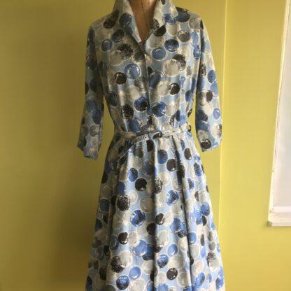 blue spot dress