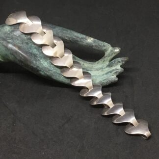 modernist silver bracelet